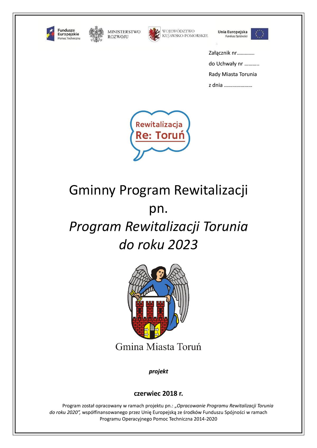Program Rewitalizacji Torunia do roku 2023